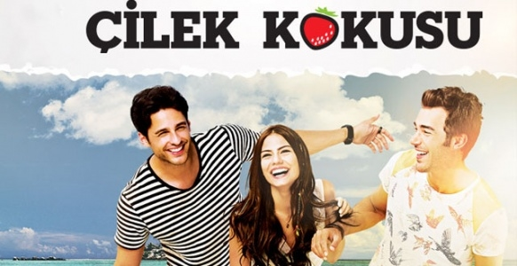 Demet Özdemir, Yusuf Çim, and Ekin Mert Daymaz in Çilek Kokusu (2015)