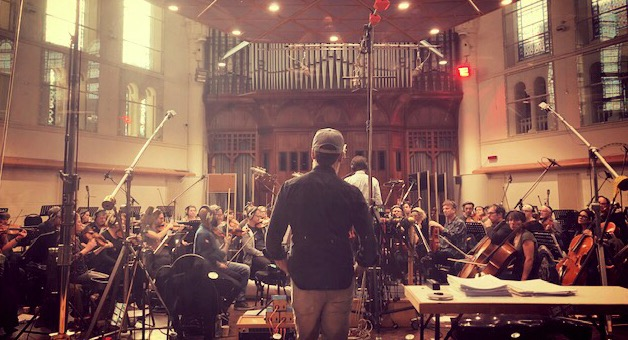 Scoring session at Air Studio's, London.  2018