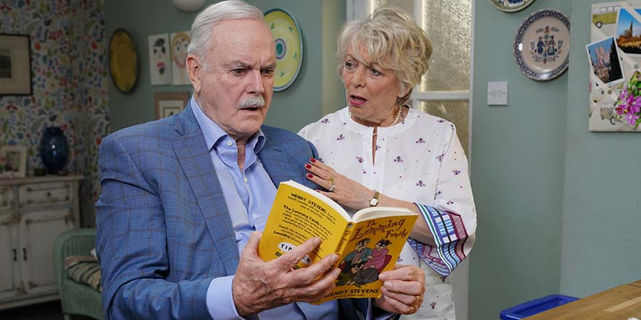 John Cleese and Alison Steadman in Hold the Sunset (2018)