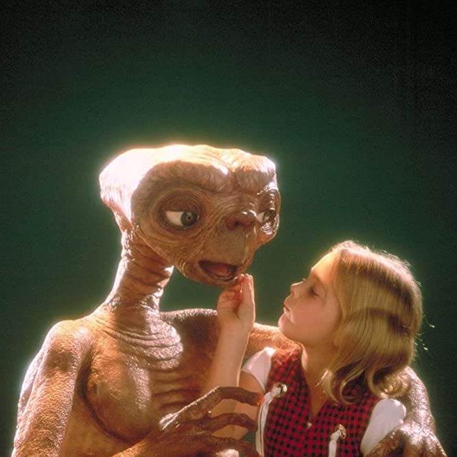 Drew Barrymore and Pat Welsh in E.T. the Extra-Terrestrial (1982)