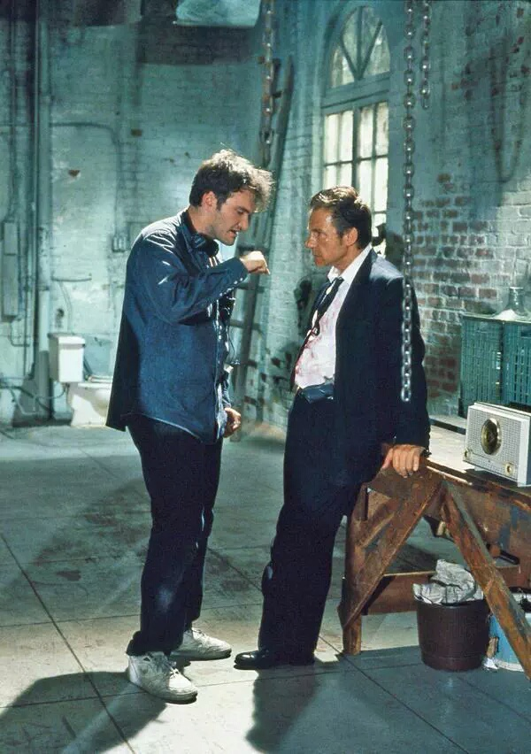 Harvey Keitel and Quentin Tarantino in Reservoir Dogs (1992)
