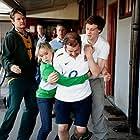 Still of Beth Cordingly, George Mackay, Nigel Lindsay, Michael Beckley, Norman Pace, Chris England in Breakfast with Jonny Wilkinson