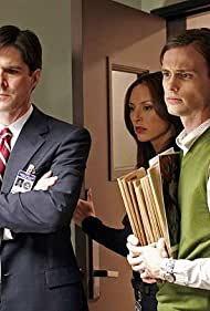 Thomas Gibson, Lola Glaudini, and Matthew Gray Gubler in Criminal Minds (2005)