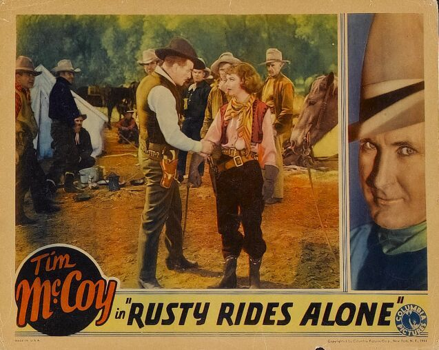 Tim McCoy, Charles Brinley, and Dorothy Burgess in Rusty Rides Alone (1933)