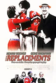 Keanu Reeves, Gene Hackman, and Brooke Langton in The Replacements (2000)