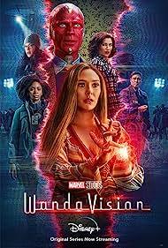 Paul Bettany, Elizabeth Olsen, Kat Dennings, Kathryn Hahn, Randall Park, and Teyonah Parris in WandaVision (2021)