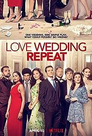 Olivia Munn, Eleanor Tomlinson, Joel Fry, Tim Key, Freida Pinto, Aisling Bea, Sam Claflin, Jack Farthing, and Allan Mustafa in Love Wedding Repeat (2020)