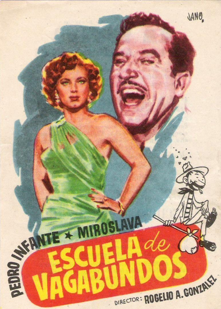 Pedro Infante and Miroslava in Escuela de vagabundos (1955)
