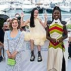 Jodie Turner-Smith, Haley Lu Richardson, and Malea Emma Tjandrawidjaja at an event for After Yang (2021)