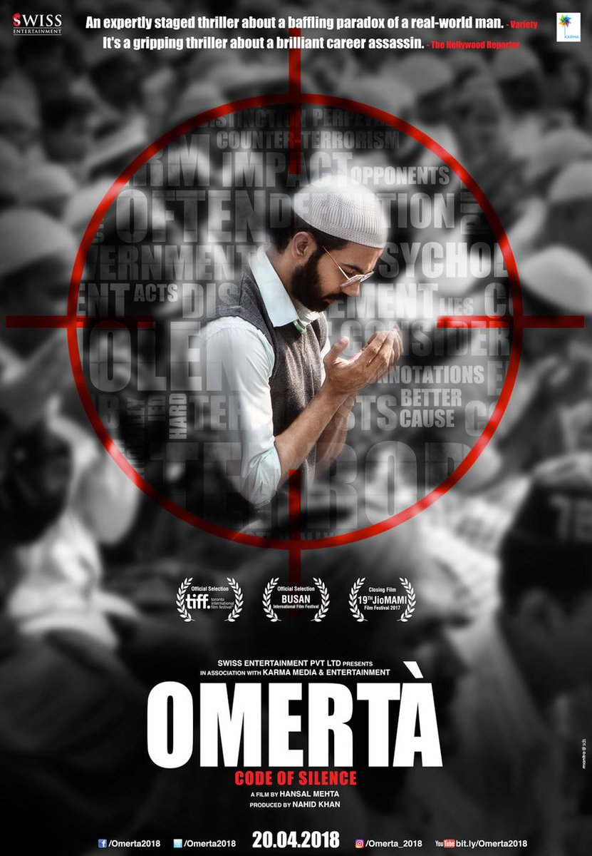 Omerta (2018) Hindi DVDRip – 480P | 720P – X264 – 450MB | 700MB – Download & Watch Online Full Movie Download
