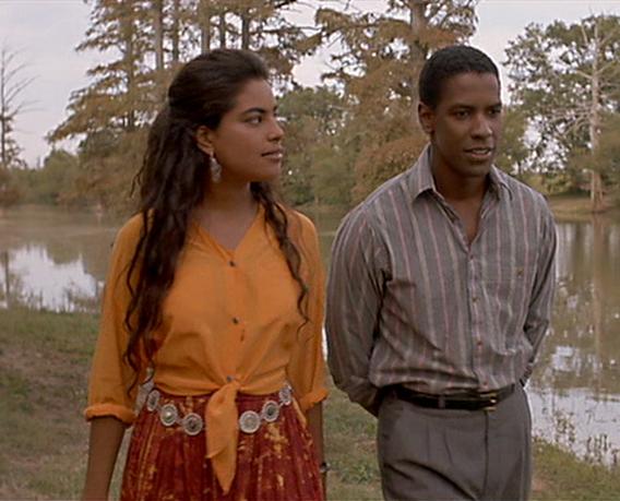 Sarita Choudhury and Denzel Washington