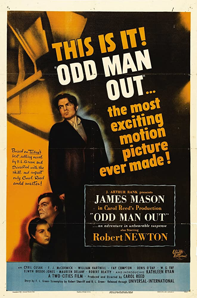 James Mason and Kathleen Ryan in Odd Man Out (1947)
