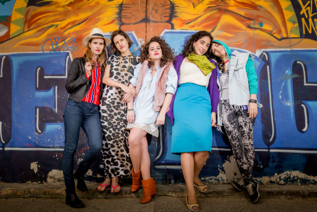 Maya Kenig, Naama Amit, Alma Dishi, Naama Preis, and Tamar Segal in Bekrov Etzlech (2014)