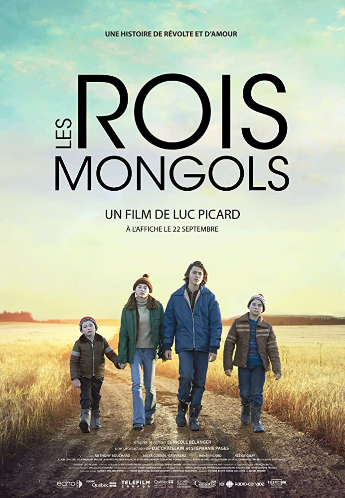 Henri Richer-Picard, Alexis Guay, Milya Corbeil-Gauvreau, and Anthony Bouchard in Les rois mongols (2017)