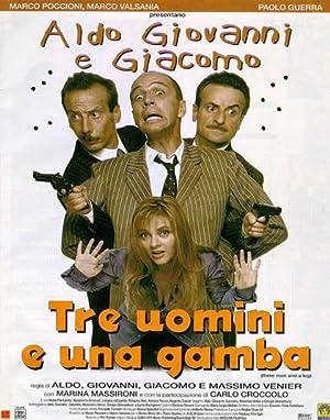 poster Tre uomini e una gamba