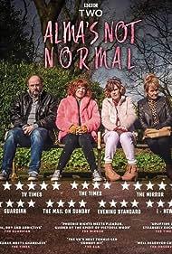 Lorraine Ashbourne, Siobhan Finneran, Nicholas Asbury, and Sophie Willan in Alma's Not Normal (2020)