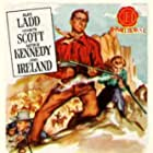 Alan Ladd, Arthur Kennedy, and Lizabeth Scott in Red Mountain (1951)