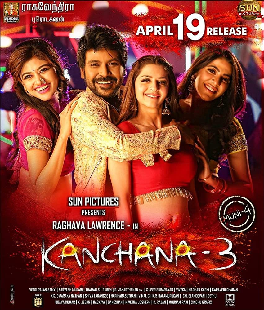 Kanchana 3 (2019) Dual Audio Hindi ORG 550MB UNCUT HDRip 480p ESubs