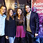 Tristan Barr, Stephanie Mauro, Damien E. Lipp, and Ally H. Bjørnstad at an event for This Little Piggy (2017)