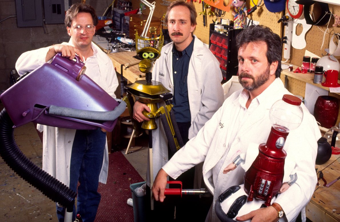 Trace Beaulieu, Jim Mallon, and Kevin Murphy in Mystery Science Theater 3000 (1988)