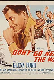 Glenn Ford, Eva Gabor, Anne Francis, and Gia Scala in Don't Go Near the Water (1957)