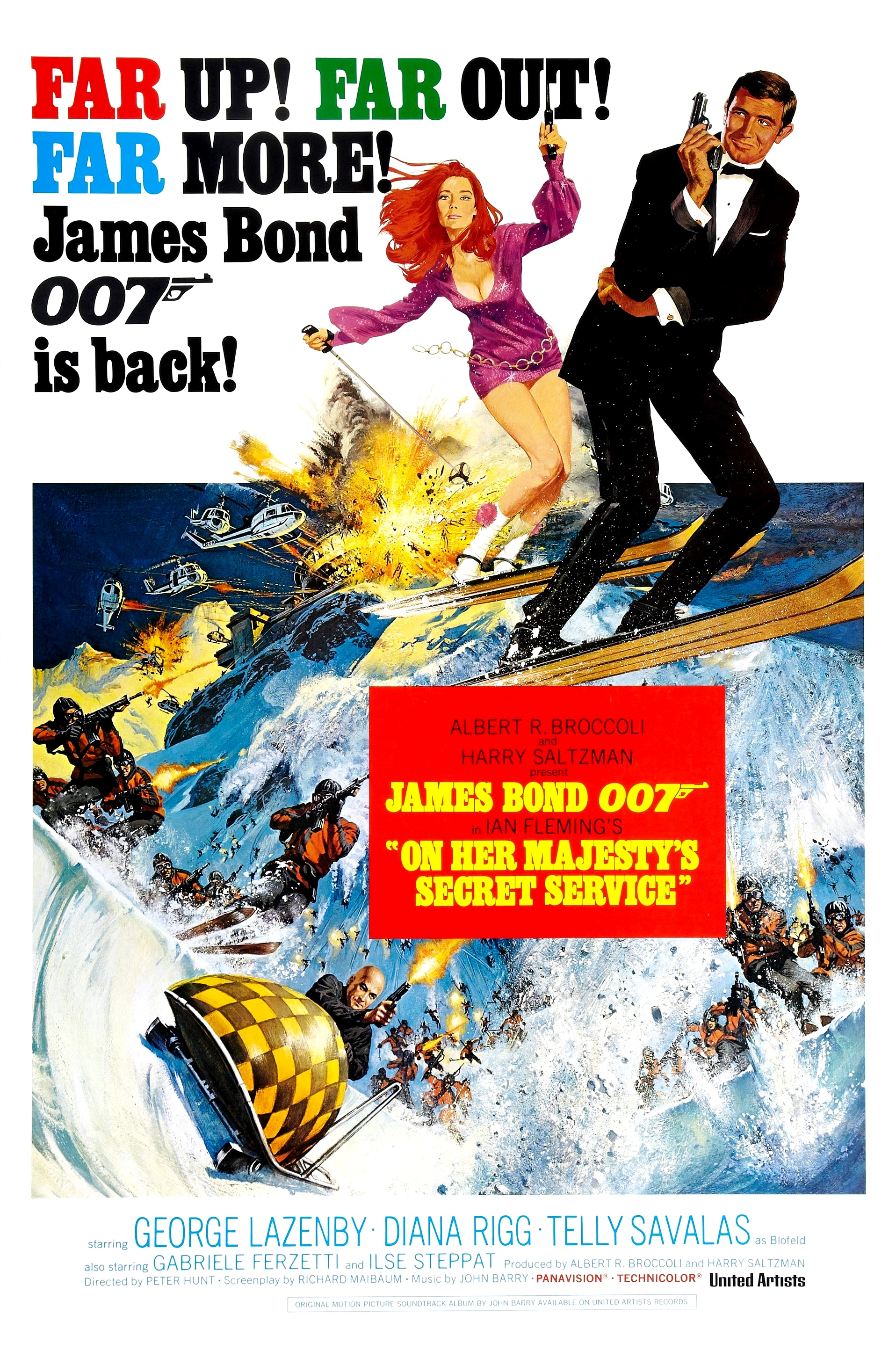James Bond x 6 With Graphics British Secret Service Agent Film Actors Poster