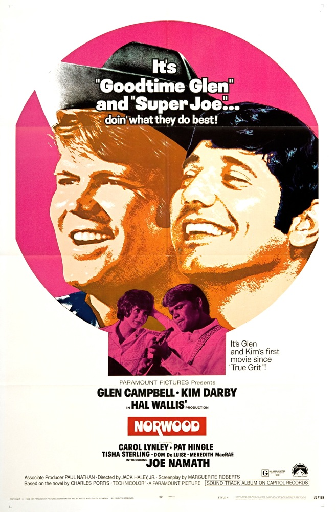 Glen Campbell, Kim Darby, and Joe Namath in Norwood (1970)