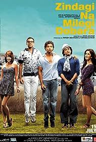 Hrithik Roshan, Farhan Akhtar, Katrina Kaif, Abhay Deol, and Kalki Koechlin in Zindagi Na Milegi Dobara (2011)