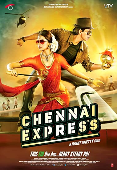 Poster of Chennai Express 2013 Full Hindi Free Download Watch Online In HD Movie Download 720p BluRay