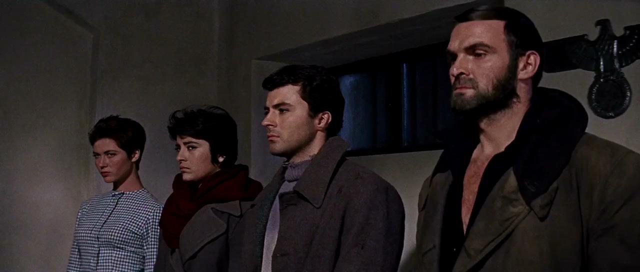 Stanley Baker, James Darren, Irene Papas, and Gia Scala in The Guns of Navarone (1961)
