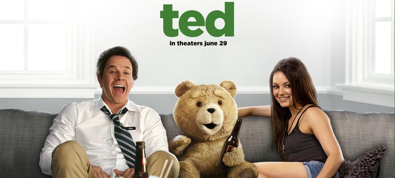 Mark Wahlberg, Mila Kunis, and Seth MacFarlane in Ted (2012)