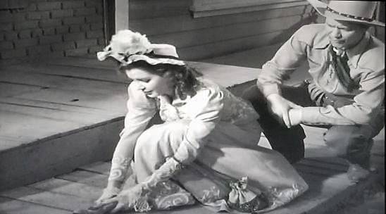 Jane Adams and Kirby Grant in Lawless Breed (1946)