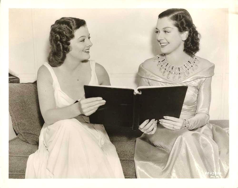 Myrna Loy and Rosalind Russell in Man-Proof (1938)