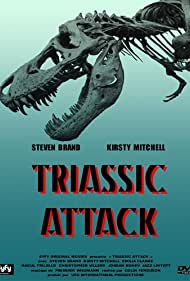 Steven Brand, Kirsty Mitchell, and Emilia Clarke in Triassic Attack (2010)