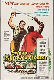 Sarah Branch and Richard Greene in Sword of Sherwood Forest (1960)