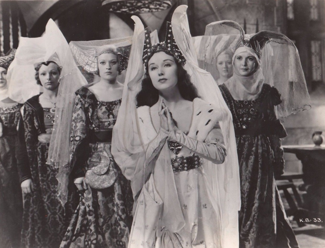 Kate Cutler, Martita Hunt, and Fay Wray in When Knights Were Bold (1936)