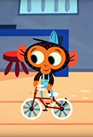 Young Turtle's Topsy-Turvy Bicycle Trouble Poster
