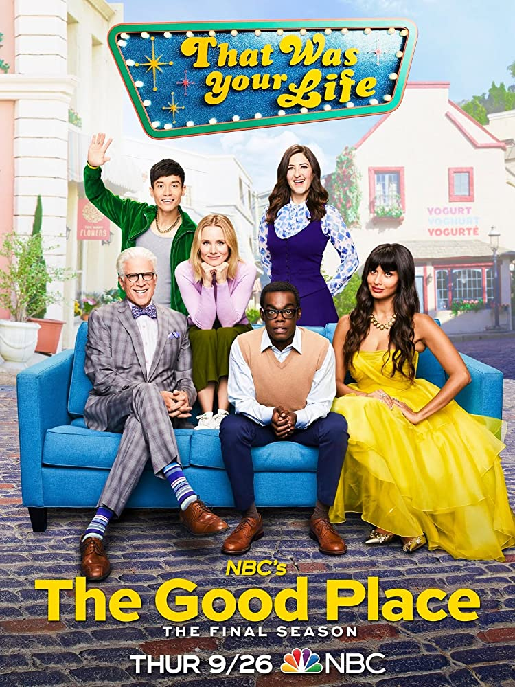 Ted Danson, Kristen Bell, William Jackson Harper, Manny Jacinto, Jameela Jamil, and D'Arcy Carden in The Good Place (2016)