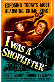 Scott Brady and Mona Freeman in I Was a Shoplifter (1950)