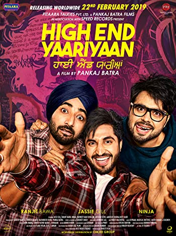 Poster of High End Yaariyaan 2019 Full Punjabi Free Download Watch Online In HD Movie Download 480p HDRip