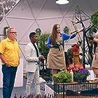 Vic Reeves, Kristen Griffith-Vanderyacht, Natasia Demetriou, and Jordan Marx in The Big Flower Fight (2020)