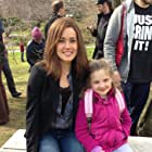 """Delphina with Megan Boone, filming """"The Blacklist,"""" Pilot episode."""