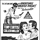 Tony Curtis and Colleen Miller in The Purple Mask (1955)