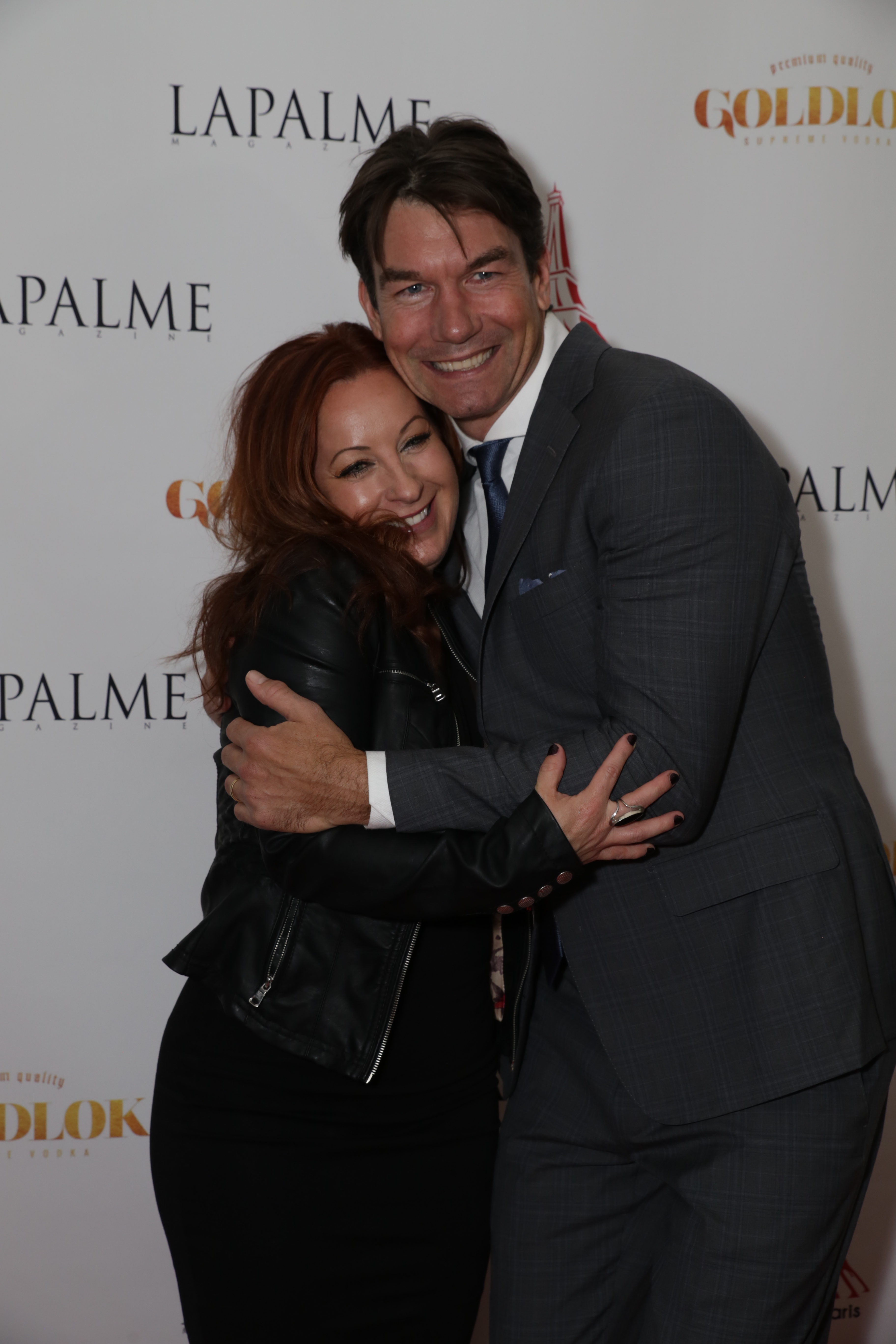 Dawn Garcia and Jerry O'Connell on red carpet for LAPALME Fall Launch Soiree