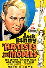 Jack Benny and Ida Lupino in Artists and Models (1937)