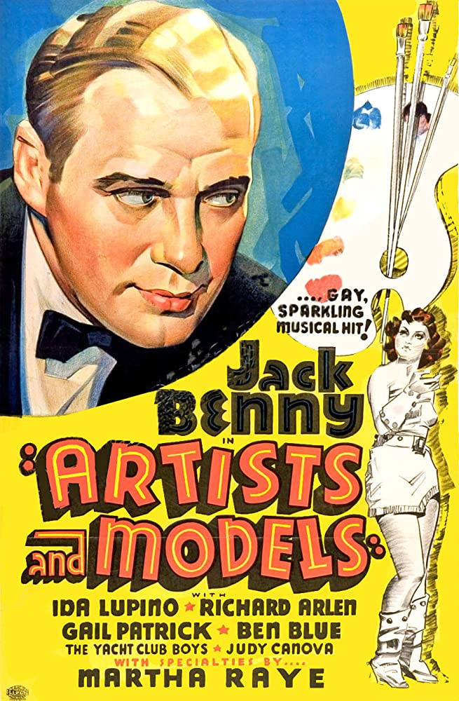Jack Benny and Ida Lupino in Artists & Models (1937)