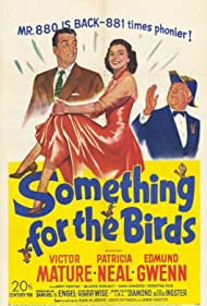 Victor Mature, Edmund Gwenn, and Patricia Neal in Something for the Birds (1952)