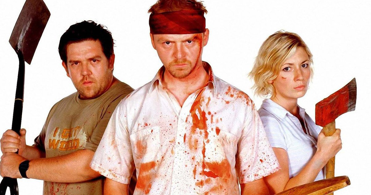 Kate Ashfield, Nick Frost, and Simon Pegg in Shaun of the Dead (2004)