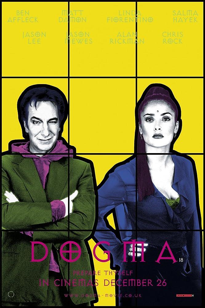 Salma Hayek and Alan Rickman in Dogma (1999)