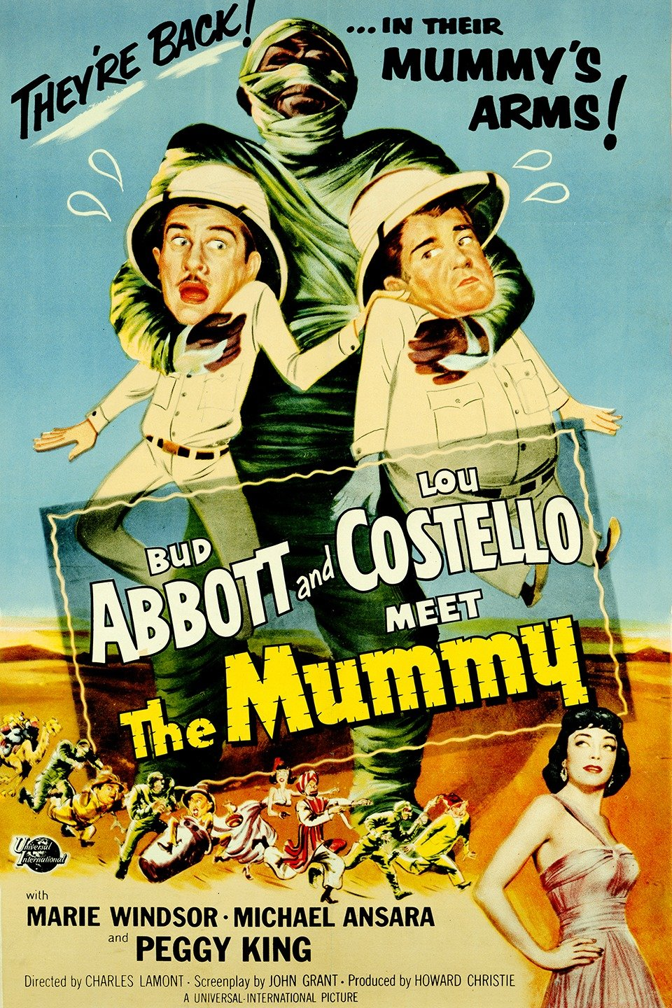 Image result for abbott & Costello meet the mummy